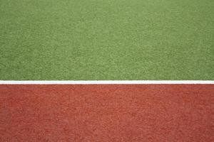 Artificial turf with white marking