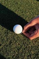 preparación de la pelota de golf foto