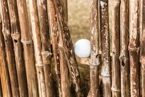 pelota de golf atascada foto
