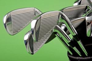 gros plan du club de golf