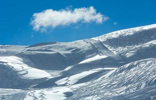Silvretta alpes vue d'hiver (Autriche).