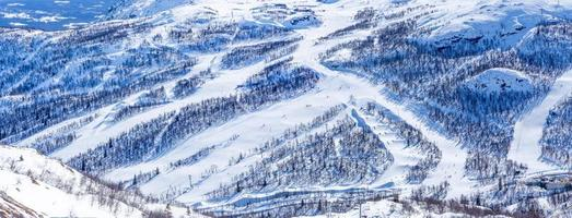 Ski slopes in Hemsedal
