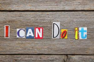 The words i can do it photo