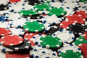 Poker chips background photo