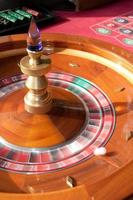 Roulette wheel in motion photo