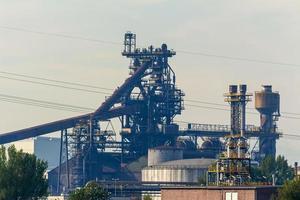 usine sidérurgique de haut fourneau