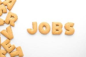 JOBS word on white isolated background