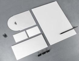 Blank corporate identity template photo