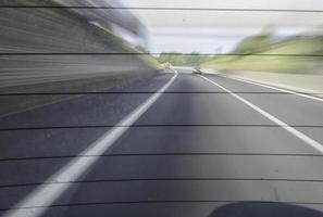 Traffic on a  Italian motorway
