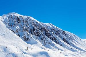 Ravines and traces of ski. photo