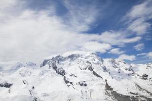 montaña nevada en suiza