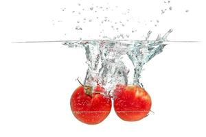 splashing tomato