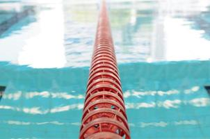 Swimming Pool and close up lanes photo