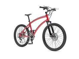 bicicleta deportiva roja foto