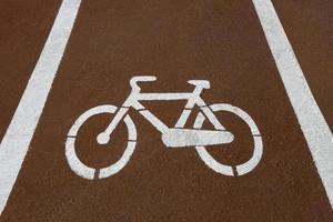 señal de ciclismo en la calle foto