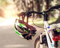 Safe bicycle helmet photo