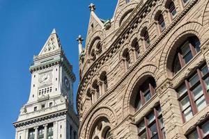 Custom House Torre del Reloj en Boston, Massachusetts foto