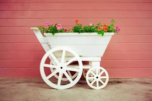 Flower basket on the bicycle photo