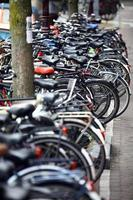 Group of parked bicycles