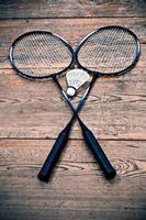 vintage badminton racquet photo