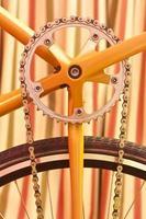 Retro bicycle still-life
