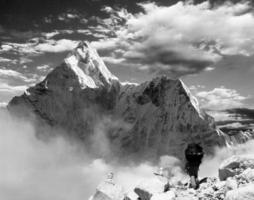 Beautiful view of Ama Dablam photo
