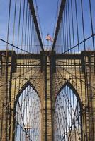 detalle del puente de brooklyn foto
