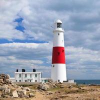 Lighthouse in Portland coast, UK