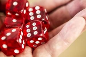 dice in the hand photo