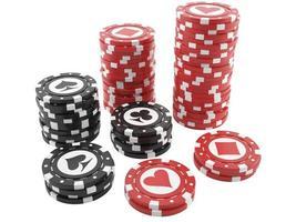 Ilustración de fichas de casino