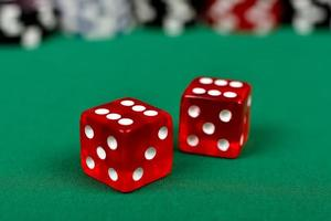 two red dice photo