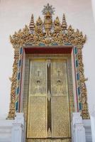 Thai traditional antique door. photo