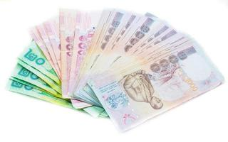 Thailand banknotes price of five hundred for background