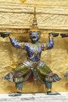 Bangkok, Grand Palace, Green Demon Guards statue photo