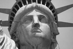 Close up of lady Liberty photo