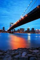 puente de manhattan de la ciudad de nueva york foto