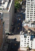 vista aérea de las calles de manhattan