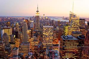 vogelvlucht van Manhattan, New York City, Verenigde Staten