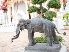 Elephant statue in  Bangkok, Thailand.