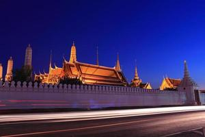 Grand palace at night, Thailand photo