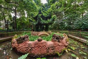 Parque del monasterio de Wenshu, Chengdu, Sichuan, China