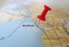 mapa de búfalo foto