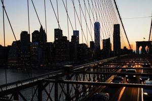 New York City at sunset. photo