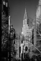 Chrysler Bldg from Gramercy Park B&W