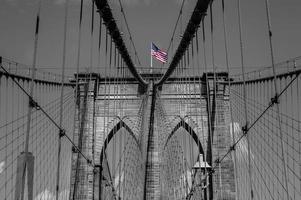 Arches of Brooklyn Bridge in NYC photo