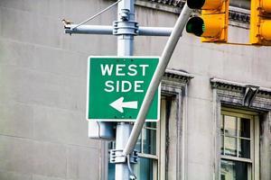 sinal do lado oeste