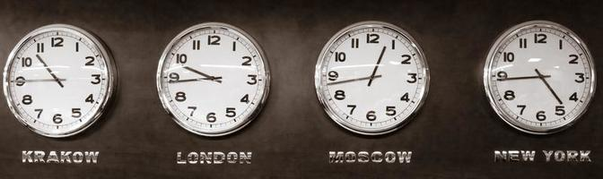 relojes - zona horaria foto