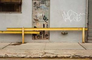 yellow iron bars photo