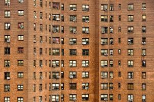 Residential building windows in Manhattan, New York