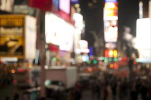 Defocused background of Time Square